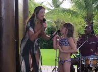 Dueto! Grávida, Ticiane Pinheiro canta com a filha Rafaella em karaokê. Vídeo!