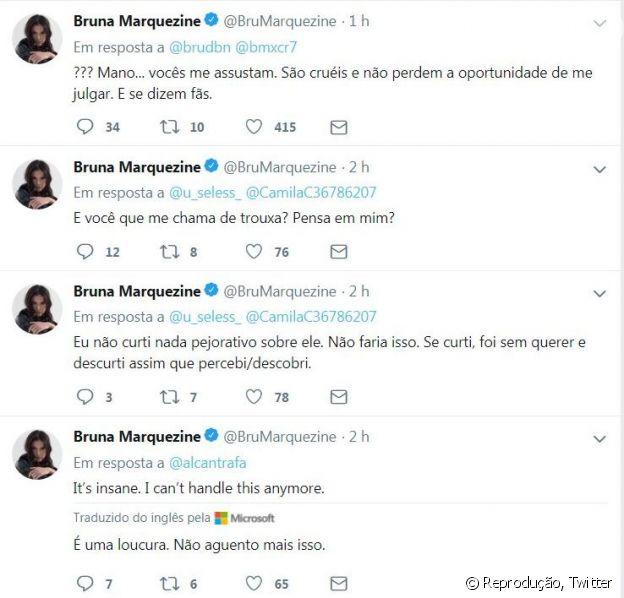 Bruna Marquezine chegou a bloquear alguns seguidores