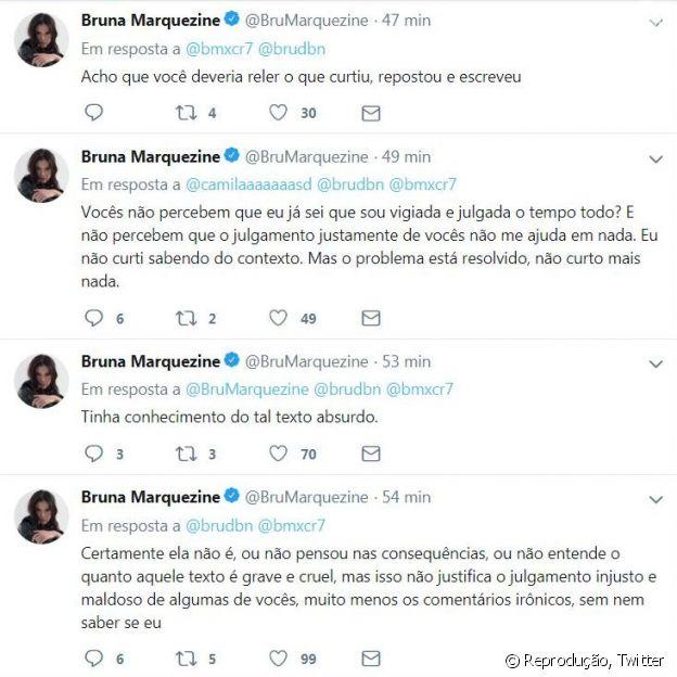 'Sou vigiada e julgada o tempo todo', lamentou Bruna Marquezine