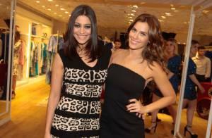 Carol Castro e Carolina Dieckmann apostam em looks sensuais em evento de moda