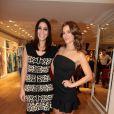 Carolina Dieckmann e Carol Castro circularam pelo evento exibindo a ótima forma com looks sensuais