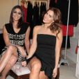 Carolina Dieckmann e Carol Castro prestigiam lançamento da loja Lelis Blanc na rua Oscar Freire, em São Paulo, nesta quarta-feira, 24 de setembro de 2014