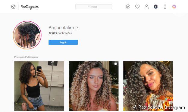 A atriz de 'Verão 90', Giovana Cordeiro, criou a #AguentaFirme para as cacheadas trocarem experiências e informações sobre seus cabelos.