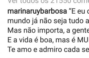Declaração de amor do marido emociona Marina Ruy Barbosa: 'Te amo e admiro mais'