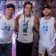 Neymar esteve acompanhado do pai no Camarote Salvador