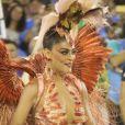Juliana Paes relatou cardápio após desfilar como rainha de bateria pela Grande Rio: 'Um monte de coisa frita, batata, risoto'