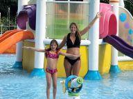 Grávida, Ticiane Pinheiro curte piscina com Rafaella Justus: 'Tarde divertida'