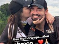 No Pantanal, Maiara posta vídeo trocando beijos com Fernando Zor: 'Meu melhor'