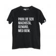 'Para de ser machista, Genaro, meu bem'. A camiseta é um ótimo lookinho para as feministas fãs de Sandy e Junior
