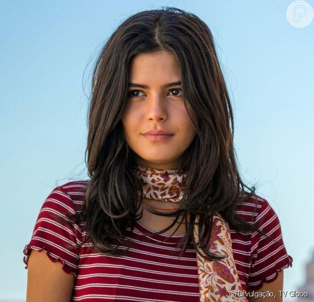 Laila (Julia Dalavia) descobrirá que está grávida de Jamil (Renato Góes) na novela 'Órfãos da Terra'.