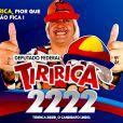 Tiririca é reeleito com mais de 1 milhão de votos por São Paulo