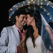 Renda francesa, bordado italiano e cristal: o vestido da noiva de Jorge Vercillo