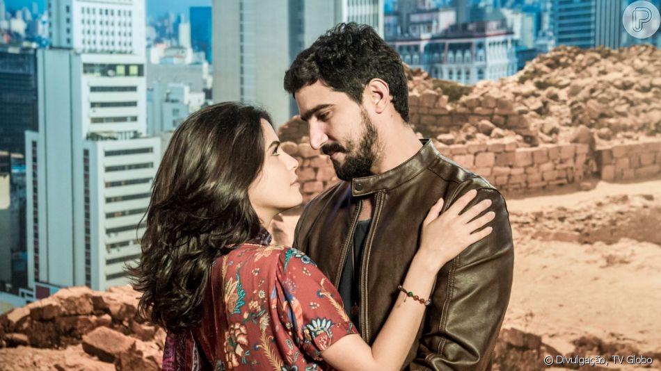 Nos próximos capítulos da novela 'Órfãos da Terra', Jamil (Renato Góes) e Laila (Julia Dalavia) vão se reconciliar.