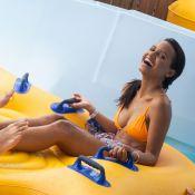 Gleici Damasceno curte parque aquático com namorado, Wagner Santiago: 'Felizes'