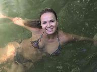 Dia de folga! De biquíni, Eliana toma banho de rio e encanta a web: 'Sereia!'