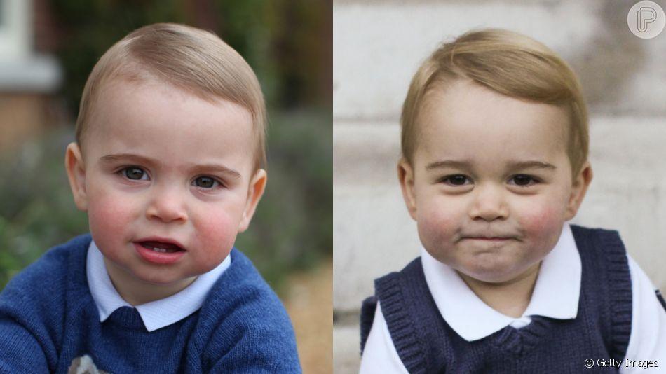 Príncipe Louis surpreende por semelhança com irmão, George, em novas fotos divulgadas nesta segunda-feira, dia 22 de abril de 2019