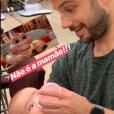 Duda Nagle deu de mamar a Zoe com mamadeira e a carinha dela divertiu o ator: 'Não é mamãe'