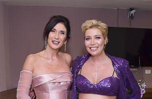 Grávida de 7 meses, Luiza Possi aposta em top de paetê em look de show com a mãe