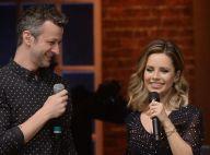 Sandy aparece com o filho, Theo, durante show em homenagem do marido, Lucas Lima