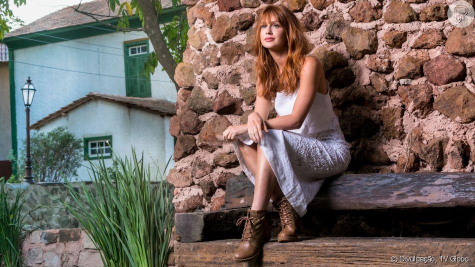 Marina Ruy Barbosa esteve na festa de encerramento da novela 'O Sétimo Guardião'