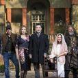 Artistas celebram o fim das gravações da novela 'O Sétimo Guardião'