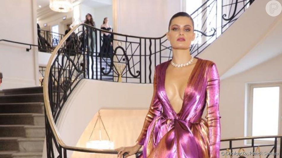 Isabeli Fontana arrasou no look para o festival de Cannes, neste sábado, 18 de maio de 2019