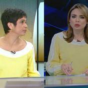 Sandra Annenberg repete look de Rachel Sheherazade no 'Jornal Hoje'