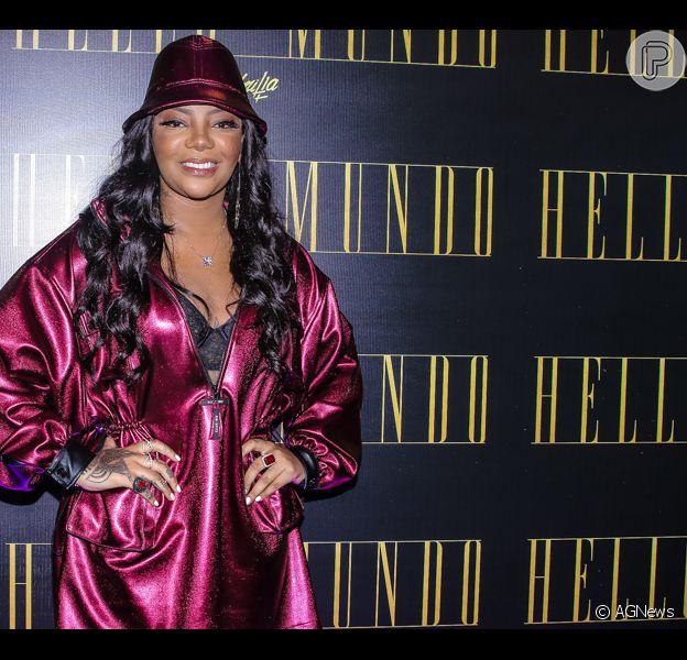 Ludmilla lança première do DVD 'Hello Mundo' no cinema do shopping Cidade de São Paulo na noite desta quarta-feira, 29 de maio de 2019