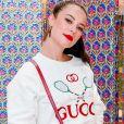 Paolla Oliveira prestigia lançamento da Gucci no shopping Village Mall, no Rio de Janeiro, na noite desta quinta-feira, 30 de maio de 2019