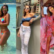 Fashion e versátil: Anitta abusa de estampas e transparências em looks de viagem