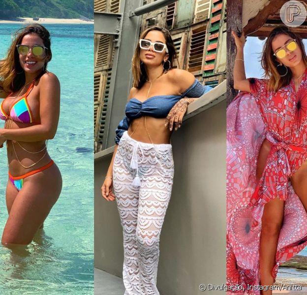 Anitta apostou em estampas, transparência e muito beachwear durante sua viagem à Ásia. Confira galeria de looks nesta quinta-feira, dia 06 de junho de 2019