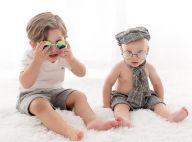 Fofura e estilo! Filhos de Sarah Poncio, João e José mostram sintonia em ensaio