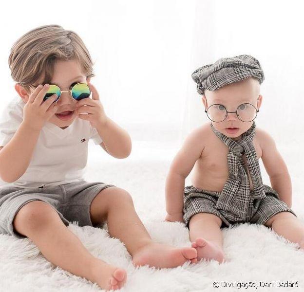 Filhos de Sarah Poncio, José e João esbanjaram estilo em ensaio fotográfico