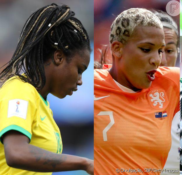 Na Copa do Mundo de Futebol Feminino, diversas jogadoras brilharam com cabelos cheios de personalidade. Confira lista nesta quarta-feira, dia 19 de junho de 2019