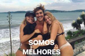 Bruno Montaleone reage após repercussão de foto com amiga em praia: 'Respeito'