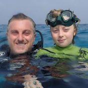 Luciano Huck mostra fratura no crânio do filho Benício e alerta: 'Use capacete'