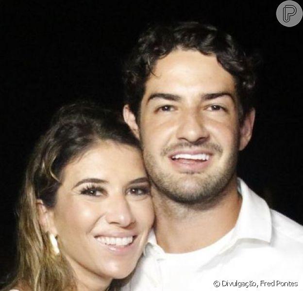 Rebeca Abravanel e Alexandre Pato após o casamento foram cobrados por Fabio Faria, marido de Patricia Abravanel: 'Queremos sobrinhos!'