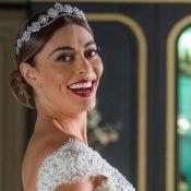 Cauda sereia e cristais:o vestido de noiva de Juliana Paes em 'A Dona do Pedaço'