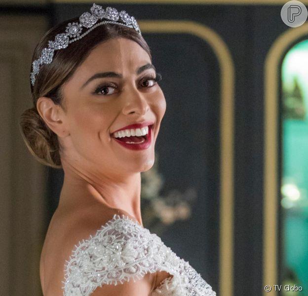 Juliana Paes vai se casar no capítulo que vai ao ar na segunda-feira na novela 'A Dona do Pedaço'