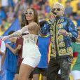 Anitta e Pedro Capó cantaram as músicas 'Calma' e 'Downtown'