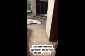 Maiara se assusta com invasão em banheiro de hotel: 'Essas fãs são loucas'