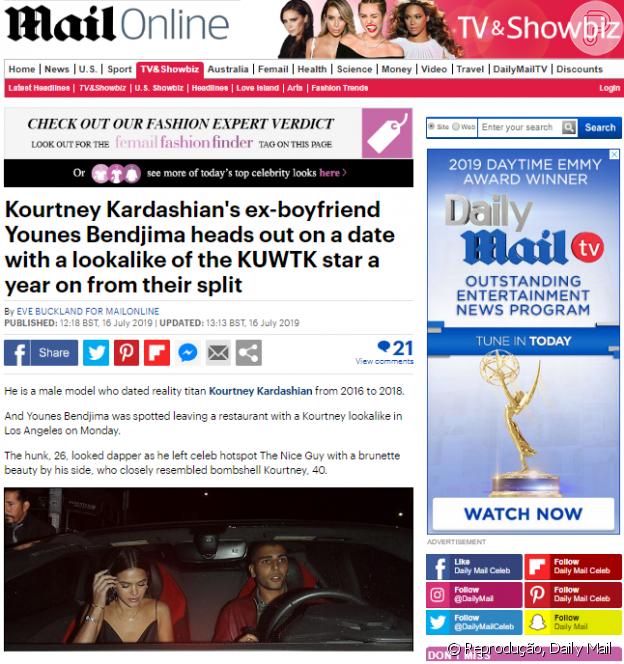 Bruna Marquezine é flagrada deixando resturante com ex-namorado de Kourtney Kardashian