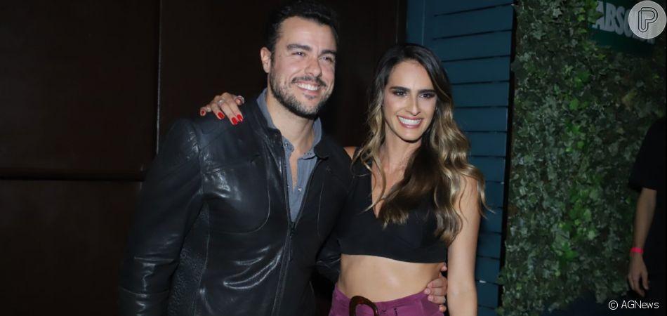 Joaquim Lopes  prestigia o show da noiva, Marcella Fogaça, no 'Dözen Art Bar' no Leblon, na noite desta quarta-feira, 24 de julho de 2019