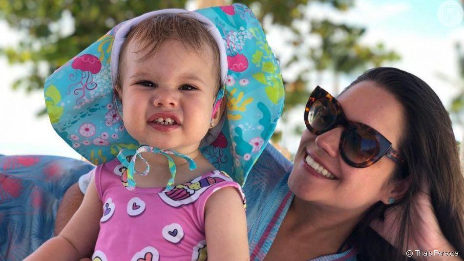 Melinda, filha de Michel Teló e Thais Fersoza, está completando 3 anos de vida nesta quinta-feira, 1 de agosto