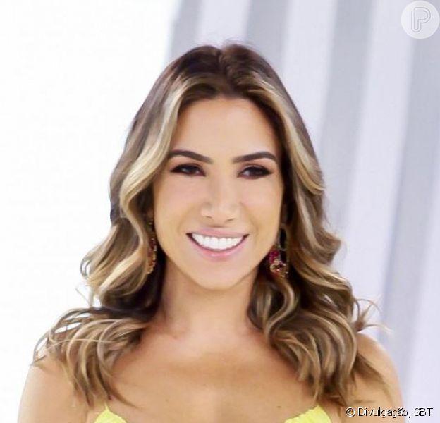 Patricia Abravanel demonstrou vontade de engravidar pela 4ª vez, agora de gêmeos, e brincou com o marido, Fabio Faria: 'Topa ou não topa?'