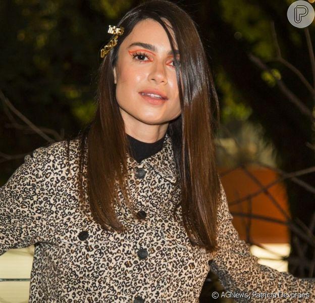 Thaila Ayala aposta em look fashionista para evento de moda nesta quarta-feira, dia 07 de agosto de 2019