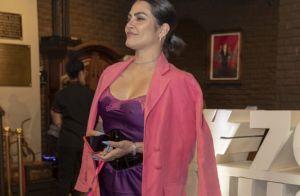 Slip dress e blazer pink: Cleo escolhe look sexy para aniversário de Preta Gil