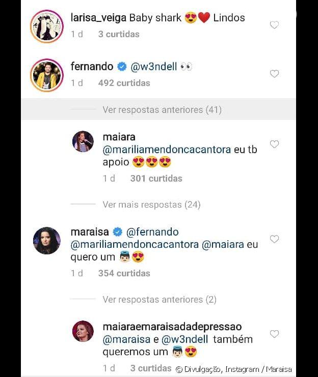 Maraisa diz que quer um bebê e Fernando Zor marca Wendell Vieira