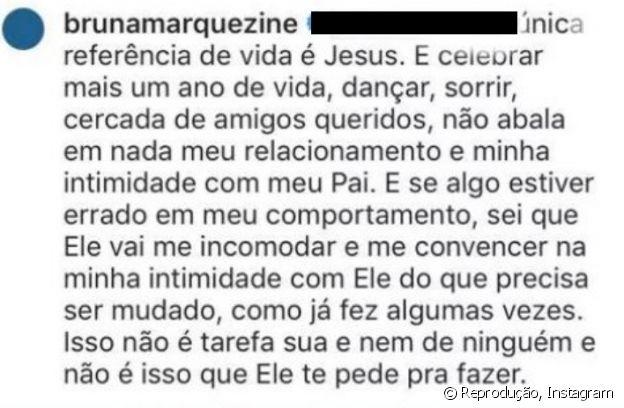 Bruna Marquezine rebate internauta sobre religião