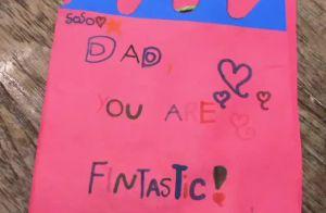 Cauã Reymond ganha bilhete da filha, Sofia, em inglês: 'Dad, you are fantastic'